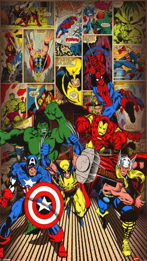 Vintage Marvel Comics Z1665 Iphone 7 marvel here come the heroes iphone 6 wallpaper plus hd heros marvel