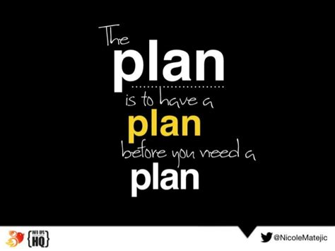plan a the plan is to a plan before you need a plan