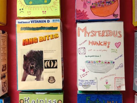 cereal box book reports fourth grade cereal box book reports steven noyes 4th grade