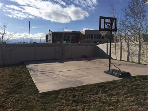 how to make a backyard basketball court in just a day this turned his backyard basketball