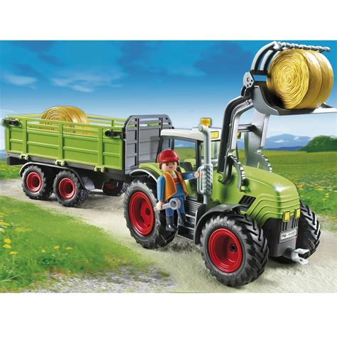 Playmobil Tractor playmobil tractor with trailer 5121 163 33 00 hamleys for toys and
