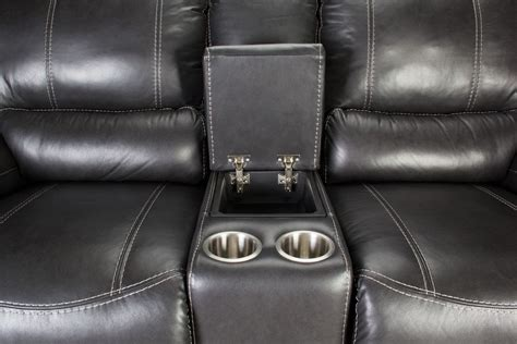 cannon leather power reclining loveseat