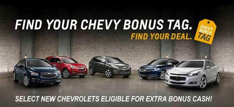 Find Your Tag Chevy Tag Bonus At Apple Chevrolet A New Car And