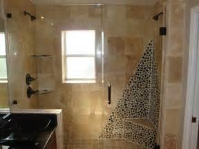 Bathroom diy bathroom remodel with pebble stone wall