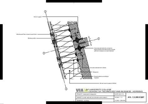 what is section 5 a n 1 5 205 01 007curtain wall and concrete plan