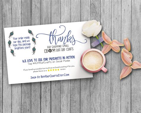 Etsy Gift Card Discount - social media cards etsy review cards etsy thank you notes snap a pic custom