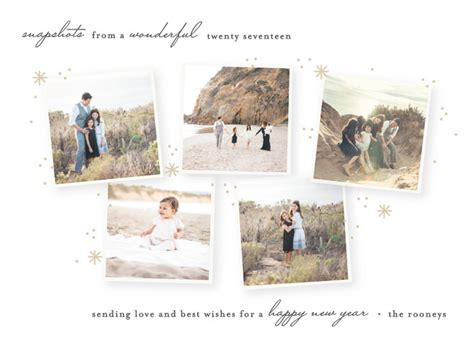 ztp new year snapshots new year photo cards by bethan minted