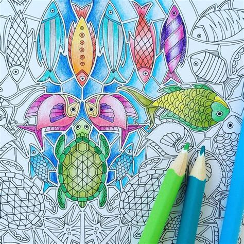 libro the aquarium colouring books 255 best images about lost ocean by basford on coloring sea shells and mandalas
