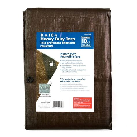 8 ft x 10 ft heavy duty tarp hf0810 the home depot