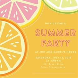 invite template word card template summer invitation template card