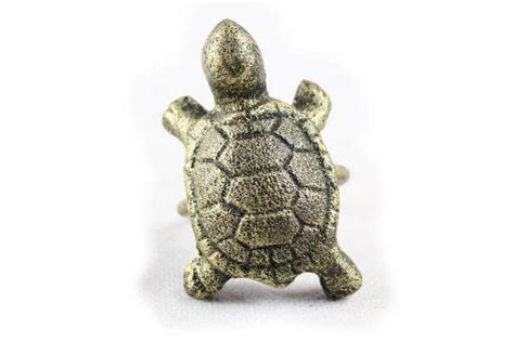 buy antique gold cast iron turtle napkin ring 3 inch set