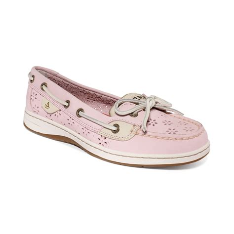 pink boat shoes sperry top sider womens angelfish boat shoes in pink