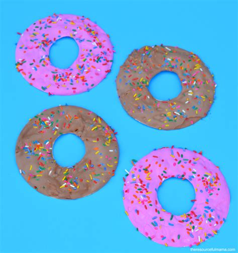 Glaze Paper Craft - paper plate doughnut craft the resourceful