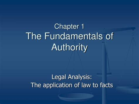 chapter ppt ppt chapter 1 the fundamentals of authority powerpoint presentation id 6559584