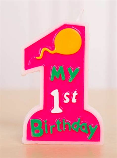 How To Decorate For A Birthday Party At Home by My 1st Birthday Cake Candle