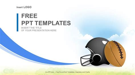american football ball sports powerpoint templatesallppt