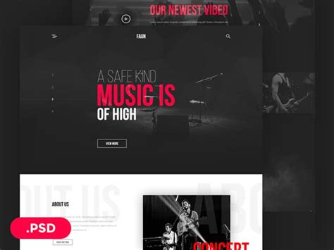 free house music download websites faun music website template designermill