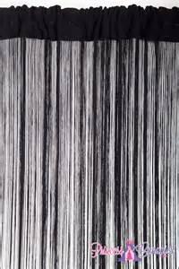 string curtain black fringe curtain black string
