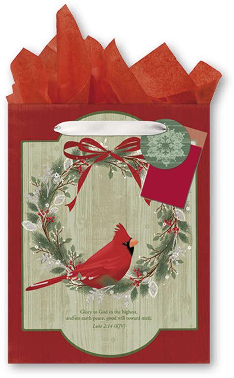 wholesale religious christmas medium gift bag with tissue