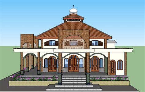 contoh desain gapura masjid gambar desain rumah hijau contoh hu