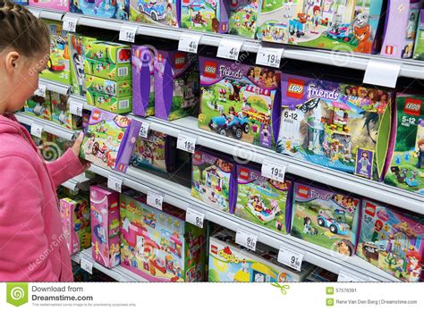 toy section lego friends editorial photo image of construction