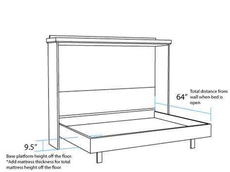 how to build a murphy bed free plans horizontal dimensions murphy beds portland