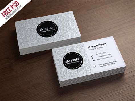 card free creative business card free psd template psdfreebies