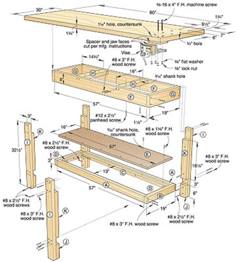 bench patterns free woodworking ija complete traditional workbench