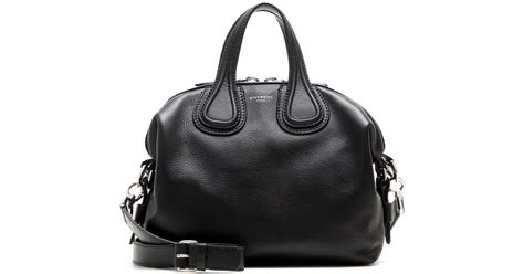 New Of Givenchy Nightangle Smalll givenchy nightingale small leather tote in black lyst