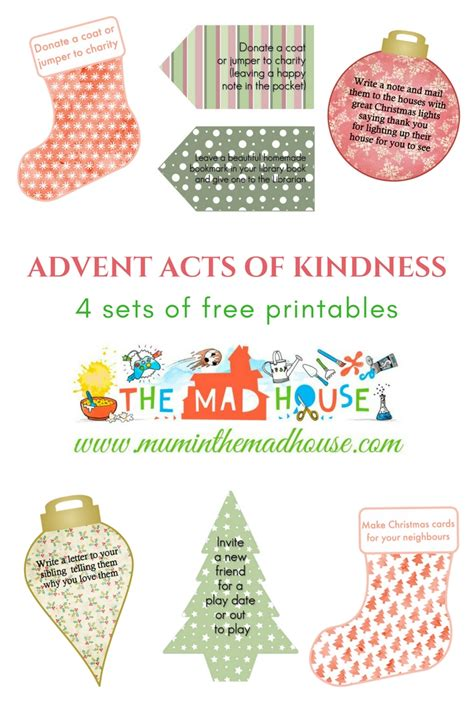 printable acts of kindness advent calendar acts of kindness advent calendar printables mum in the