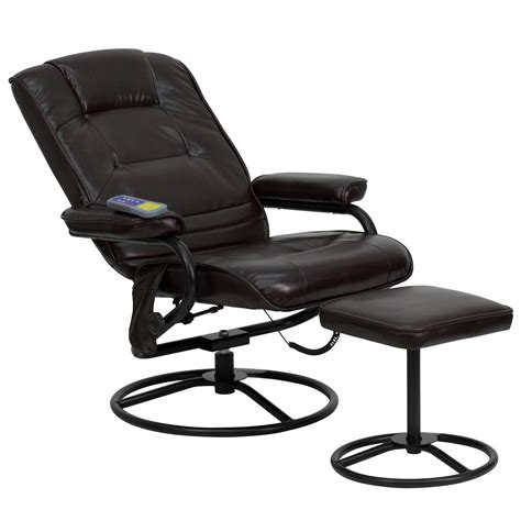 reclining massage chair with heat flash furniture heated reclining massage chair and ottoman