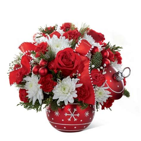 holiday ornament christmas bouquet at send flowers