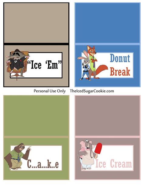 diy flash card template 144 best images about zootopia printables on