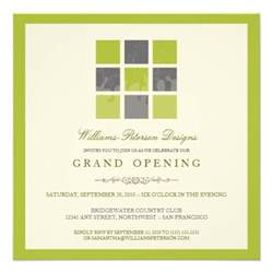 modern blocks grand opening invitation lime 5 25 quot square