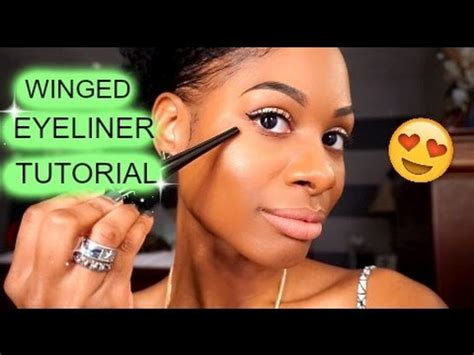 perfect winged eyeliner tutorial youtube my perfect winged eyeliner tutorial smileychanae youtube