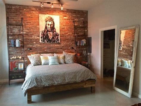Brick Wall Bedroom by Best 25 Brick Accent Walls Ideas On Kitchen