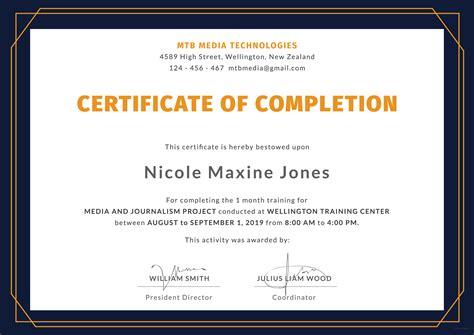 training certificate template freelanced info