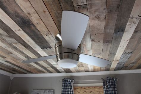 Distressed Wood Ceiling by Reclaimed Wood Kitchen Backsplash Remodelaholic