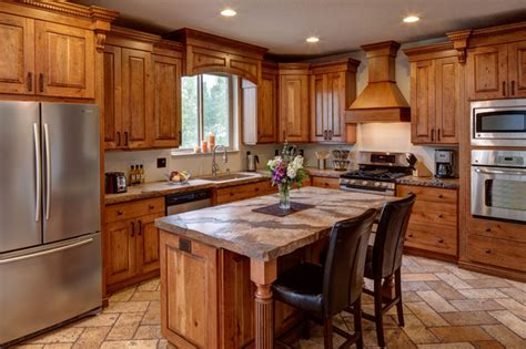 rustic cherry kitchen cabinets rustic cherry traditional kitchen salt lake city