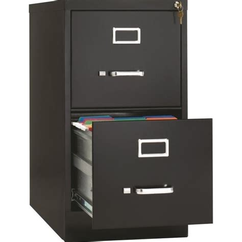 2 Drawer Black Filing Cabinet by Hirsh Industries Vertical Files 2 Drawer Letter File