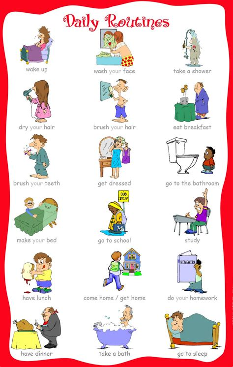 printable toddler daily routine free coloring pages of daily activities