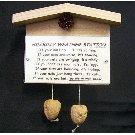 hillbilly weather station novelty gift custom by sswoodcraft