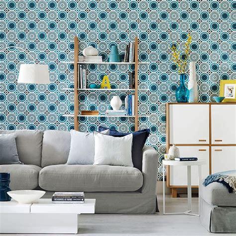 blue wallpaper living room living room with patterned wallpaper living room decorating housetohome co uk