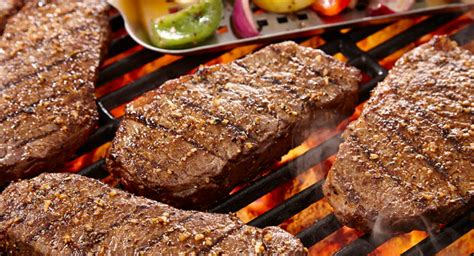 grilled spice rubbed new york strip steak tailgate grilling