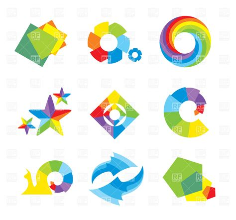 abstract geometric design elements vector set of design elements and abstract geometric shapes