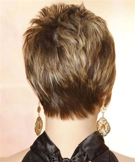 back side hairstyle short hair side and back view casual short straight