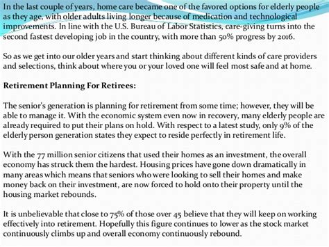 cerna home care about retirement planning and
