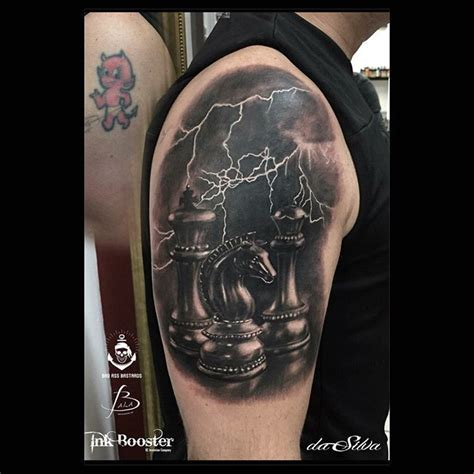 chess pieces tattoo designs chess pieces 3d shoulder