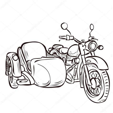 Motorrad Mit Beiwagen Zeichnung by Vintage Bike And Sidecar Stock Vector 169 Dergriza 107833298