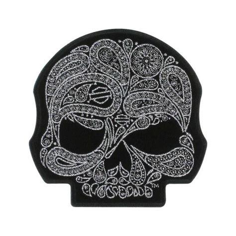 Emblem Harley New Skull genuine harley davidson skull paisley emblem 4 5inches x 4 5inches ebay